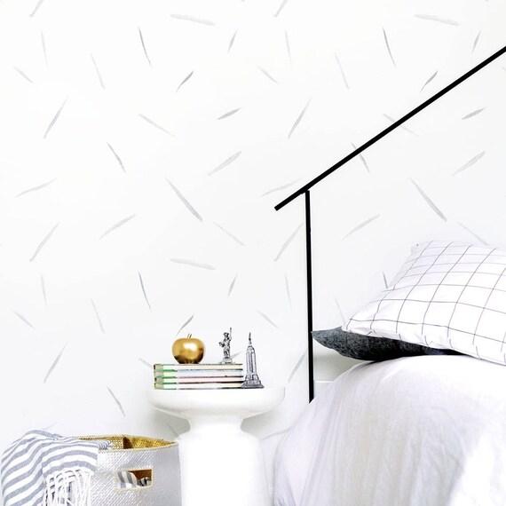 Strokes Wallpaper Soft Gray Wallpaper Kids Wallpaper Etsy