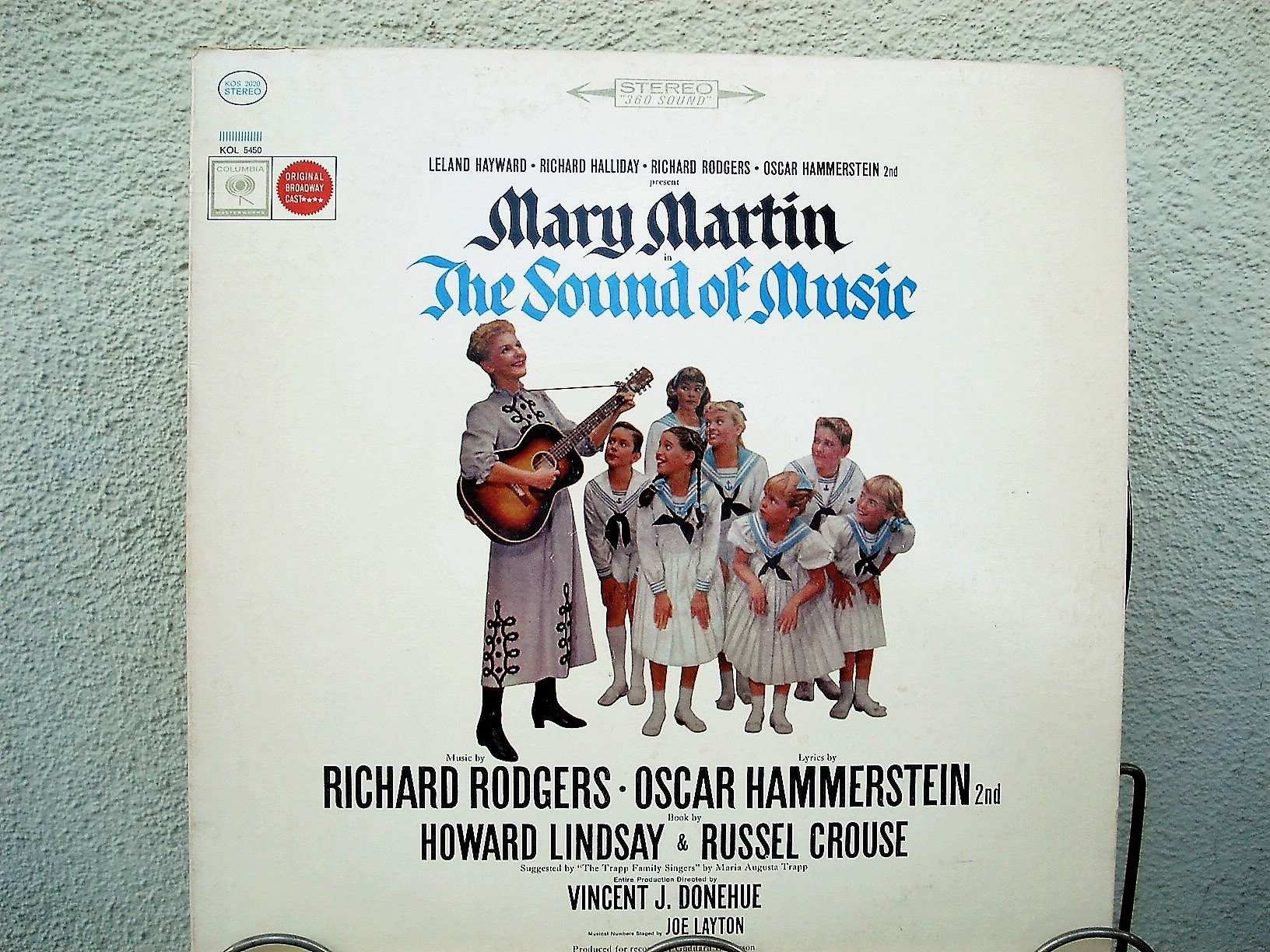 Sound Of Music Vinyl Record, 1965 Vintage Record Julie Andrews, Soundtrack,  Von Trapp Singers, Movie Musical, Academy Awards