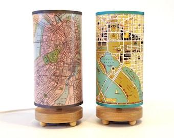 Pair of Medium Map Table Lamps -savings!
