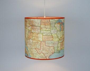 USA Map Pendant Lamp