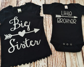 c7653d5e3af Big Sister Shirt- Little Brother Shirt- Big Sister Announcement- Coming  Home Outfit- New Baby- Sibling Outfits- Matching Sister Outfits