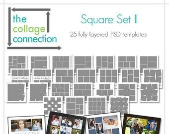 Photoshop Square Collage Templates | Square Set 2
