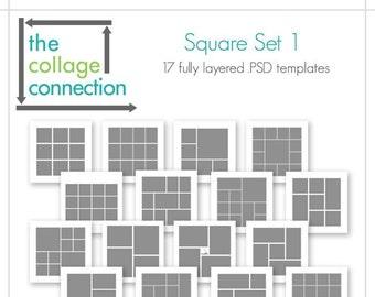 Square Photoshop Template | Square Set 1