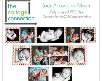 Jack Square Mini Accordion Album - 3x3
