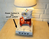 Sega Dreamcast Desk Lamp - Gamer Light Sculpture with Lampshade