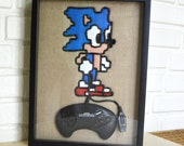Sonic The Hedgehog - Sega Genesis Controller Wire Wall Art Shadow Box