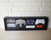 Nintendo Complete Controller History Decor Shadow Box Framed