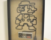 Super Mario - Nintendo NES Wall Art Shadow Box