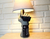 Nintendo NES Power Glove Very Rare Desk Lamp Light Sculpture, Wearable, Poseable