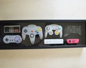 Nintendo Complete Controller History Decor Shadow Box Framed