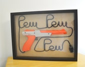 Nintendo NES Zapper Wall Art Shadow Box - Pew Pew Pew