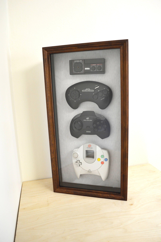 Sega Geschichte Dekor Shadow Box gerahmt