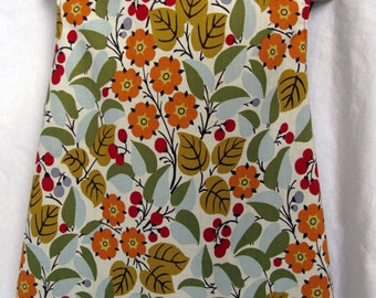 Reversible Jumper Autumn Floral and Green 3T-5 Girls