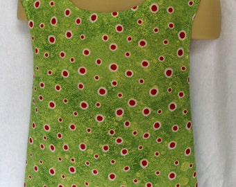 Reversible Jumper Red Poka Dot on Green and Red 18M-5T