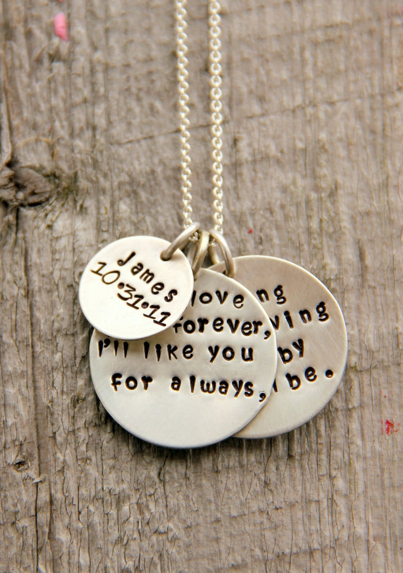 As Long Im Living Ncklace New Mom MotherMom Name Birthday Family Child Quote Baby Necklace Gift From Husband