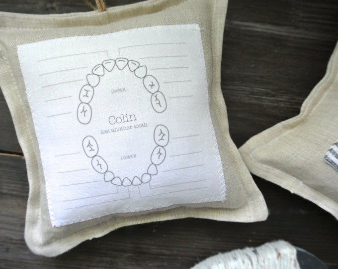 Tooth Fairy Pillow, Personalized Tooth Fairy Pillow, Tooth Pillow, Personalized Pillow, Kid's tooth chart pillow, Personalized pillow,