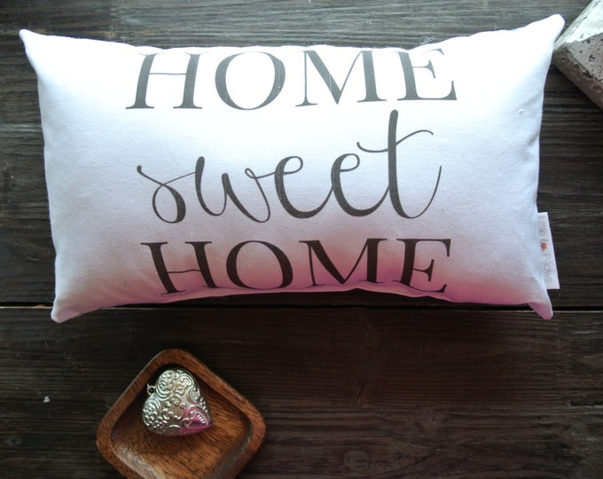 Home Sweet Home Quote, Little Love Pillow, Quote Pillow, Home Warming Gift, Wedding Gift, Home Decor, Pillow, Closing gift, Bowl Filler