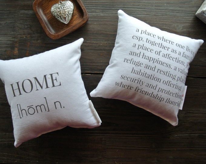 Home Quote Mini Pillow set, Little Love Pillow, Favorite quote Pillow, Gift Idea, Display pillow, Cotton Pillow, Closing Gift, Housewarming