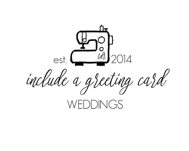 For Weddings  Include A Greeting Card with Your Order image 0