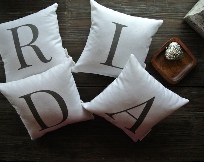 Monogram Pillow, Little Love Pillow, Favorite quote Pillow, Home Decor, Cotton Pillow, Gift Idea, Display pillow, Letters Pillow