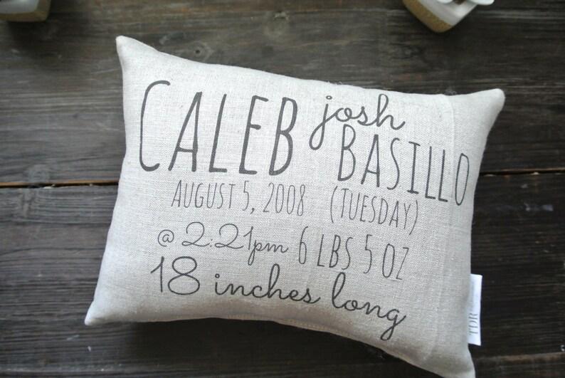 Custom Birth Stat Pillow Custom Birth Pillow Personalized image 0
