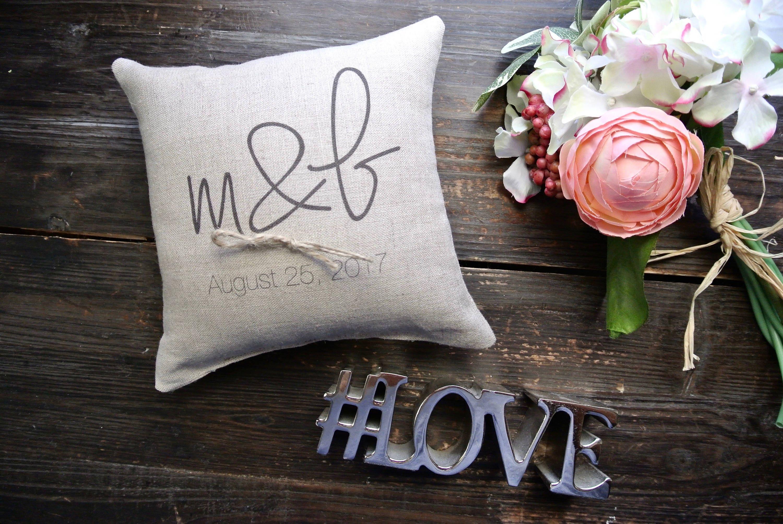 personalized ring pillow wedding pillow Wedding ring pillow R3 Personalized Ring bearer pillow ring bearer pillow
