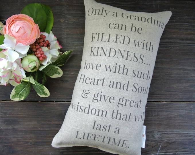 Grandma Pillow, Personalized Pillow, shower gift pillow, Personalized Pillow, Couples, anniversary pillow, Birthday Gift, Grandma quote
