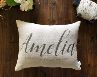 Personalized Name Pillow, Baby shower gift, Baby Name Pillow, Personalized Baby Pillow, Nursery Name Pillow, Baby Photo Prop Pillow