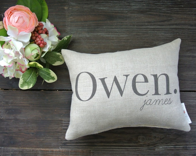 Personalized Name Pillow, Baby shower gift, Baby Name Pillow, Personalized Baby Pillow, Birth Announcement Pillow, Baby Photo Prop Pillow