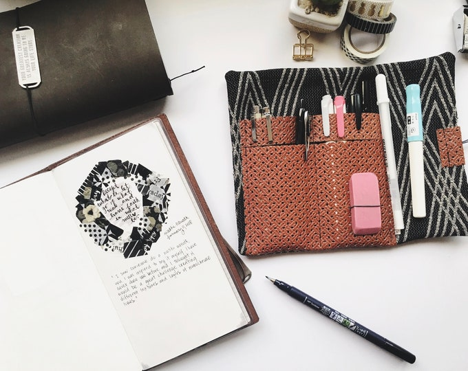 Pencil Roll, Fabric Pencil Roll, Pencil Case, Fabric Pencil Case, Pencil case, Pencil Holder, Pen Case, Pen Roll, Fabric pen roll, fabric