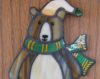Brown Bear with Green Scarf