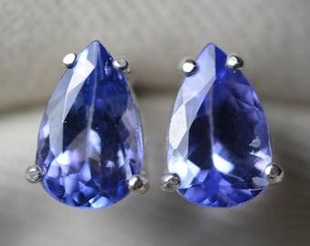 23Cts Tanzanite Pear Cut Lot Loose Gemstone,Facted Tanzanite Gemstone For Jewelry Making Earring Size Loose Tanzanite Stone 10x14mm p535