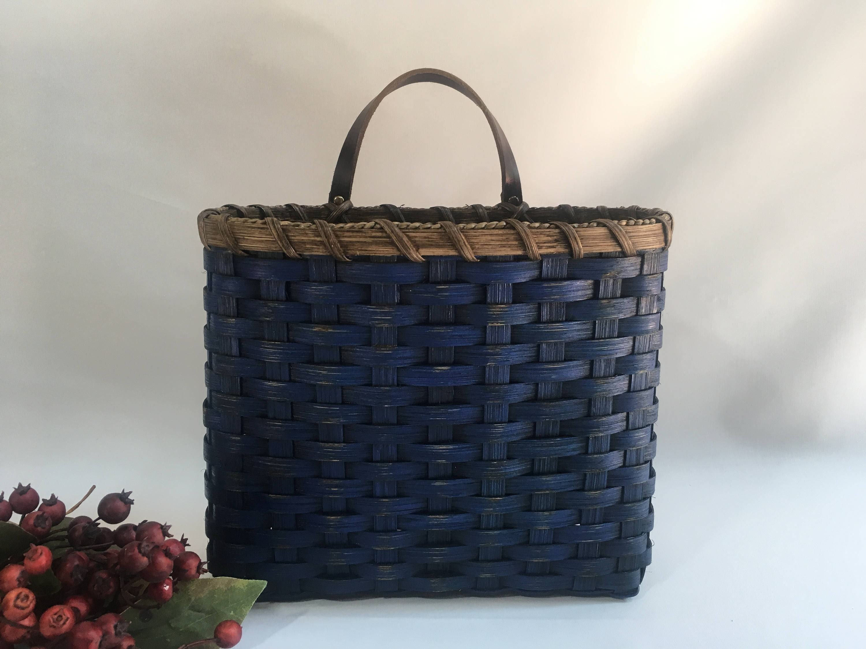 mail basket wall basket painted primitive style wall etsy. Black Bedroom Furniture Sets. Home Design Ideas
