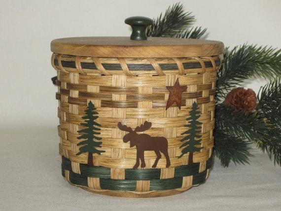 Toilet Paper Basket With A Lid Storage Basket Moose Canister | Etsy