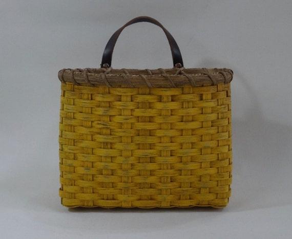 mail basket wall basket painted handwoven basket etsy. Black Bedroom Furniture Sets. Home Design Ideas