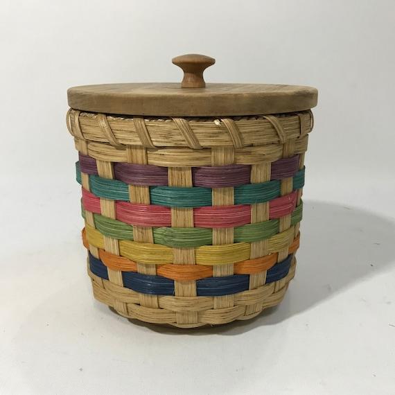 Lidded Toilet Paper Basket Single Roll Storage | Etsy