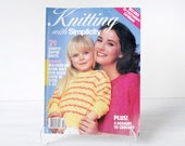 Vintage 1987 knitting pattern book, Knitting with Simplicity, 1980s fashions for women, men, kids, summer knits, crop tops, cover ups, crew