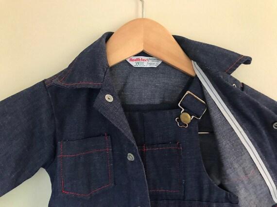 Vtg 1970s Healthtex overalls and denim jacket matc