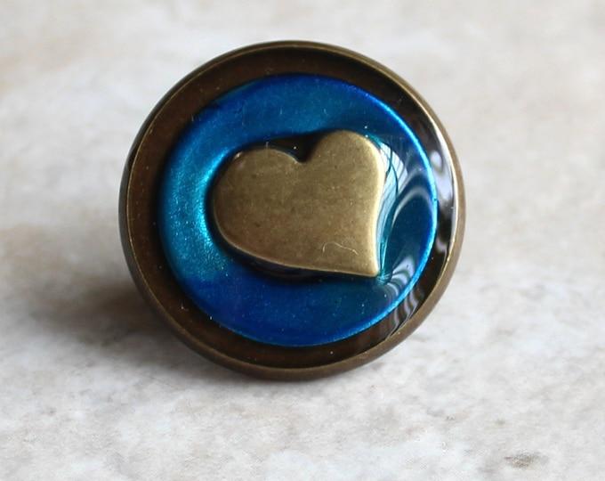 sky blue heart lapel pin, heart tie tack, valentine gift, wedding jewelry anniversary gift, mens jewelry, groomsmen gift