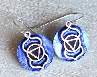 Ajna third-eye earrings on sterling silver ear wires