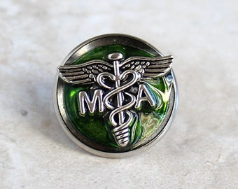 medical assistant pin, green, MA pinning ceremony