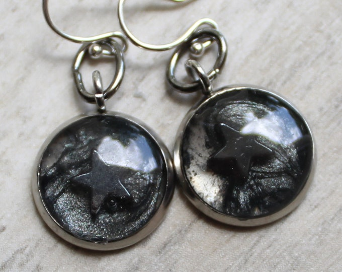 star earrings with sterling silver ear wires