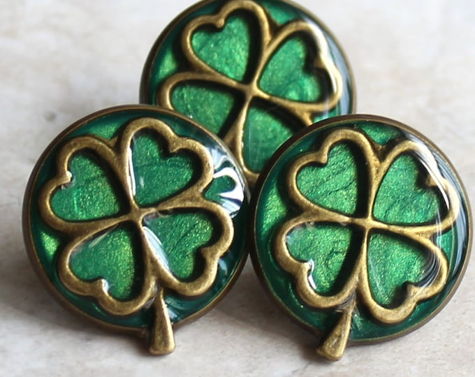 four leaf clover pin, lapel pin, tie tack, clover jewelry, unique gift, irish jewelry, mens gift, mens jewelry, good luck, st patricks day