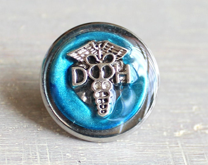 dental hygienist pin, sky blue, DH pinning ceremony