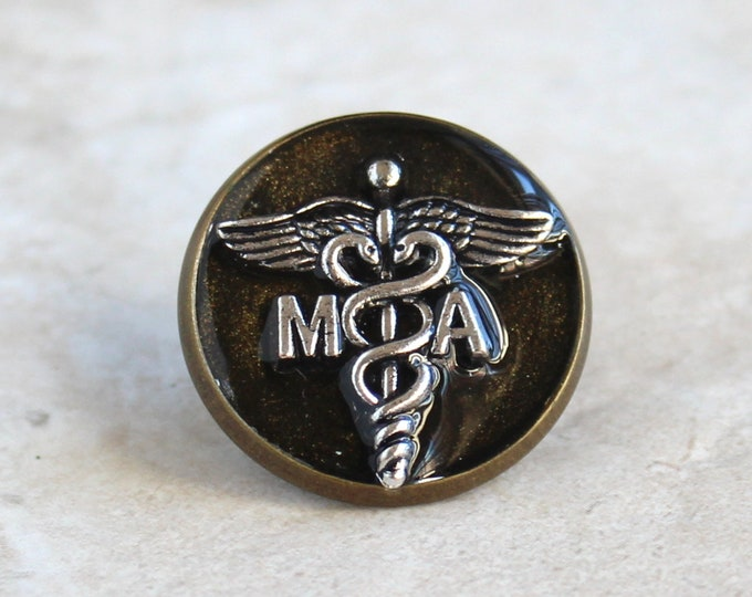 medical assistant pin, black gold, MA pinning ceremony