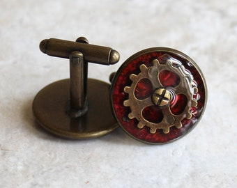 steampunk cufflinks, mens jewelry