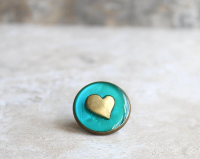 aqua heart lapel pin, heart tie tack, mens jewelry, valentine gift, anniversary gift, unique gift, heart jewelry, wedding jewelry