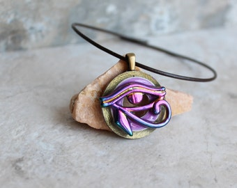 Eye of Horus necklace, eye of Ra jewelry, Egyptian pendant, mens jewelry, boyfriend gift, mens necklace, unique gift