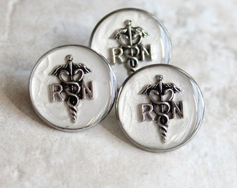 white registered nurse pin, RN pinning ceremony, nurse graduation gift, white coat ceremony, graduation gift