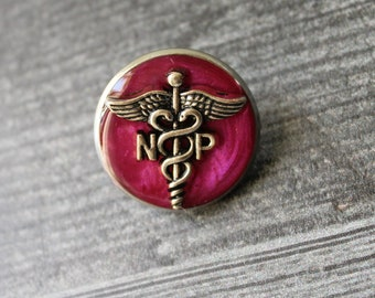 nurse practitioner pin, np pinning ceremony, nurse graduation gift, white coat ceremony, pink